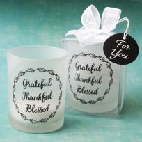 Grateful, Thankful, Blessed Candle Holder